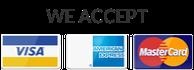 We accept Visa, MasterCard and American Express