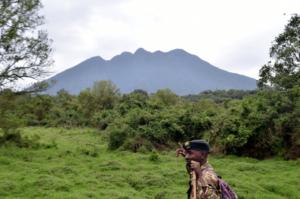 Hiking mountain Sabinyo Uganda gorilla tour trekking climbing