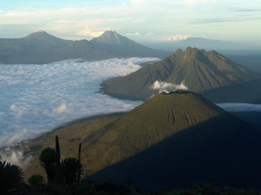 Virunga volcanoes climbing Gorillas and Wildlife Safaris rafting climbing
