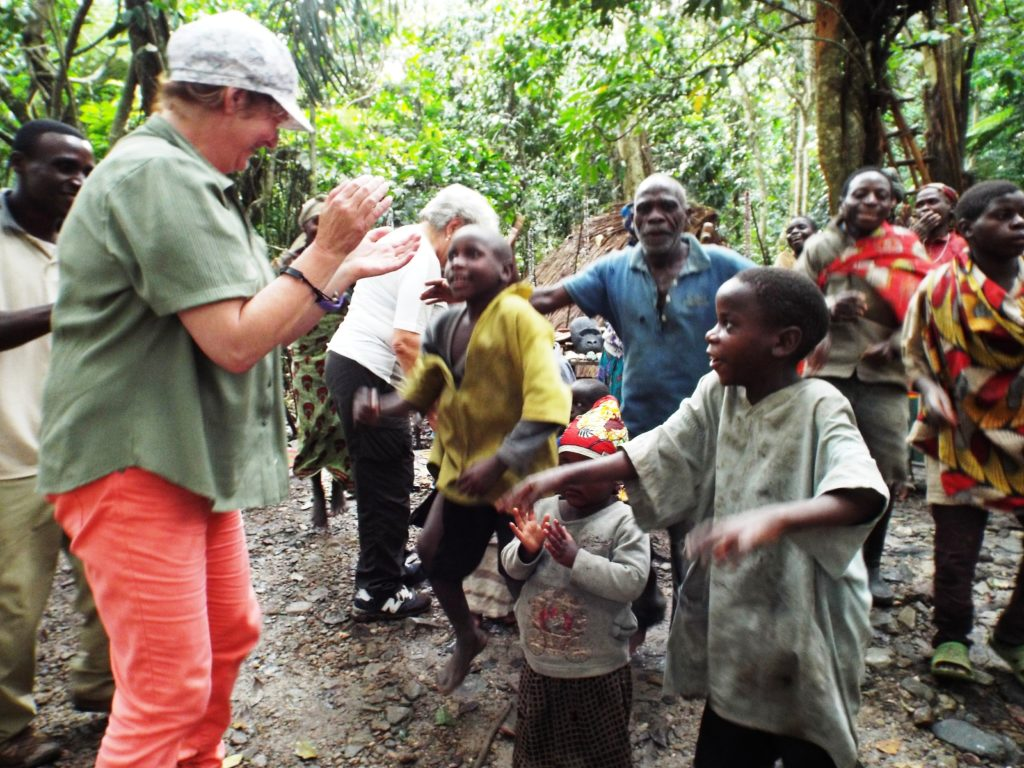 community interaction with tourists in Uganda